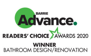 barrie advance readers' choice winner in bathroom design and renovation