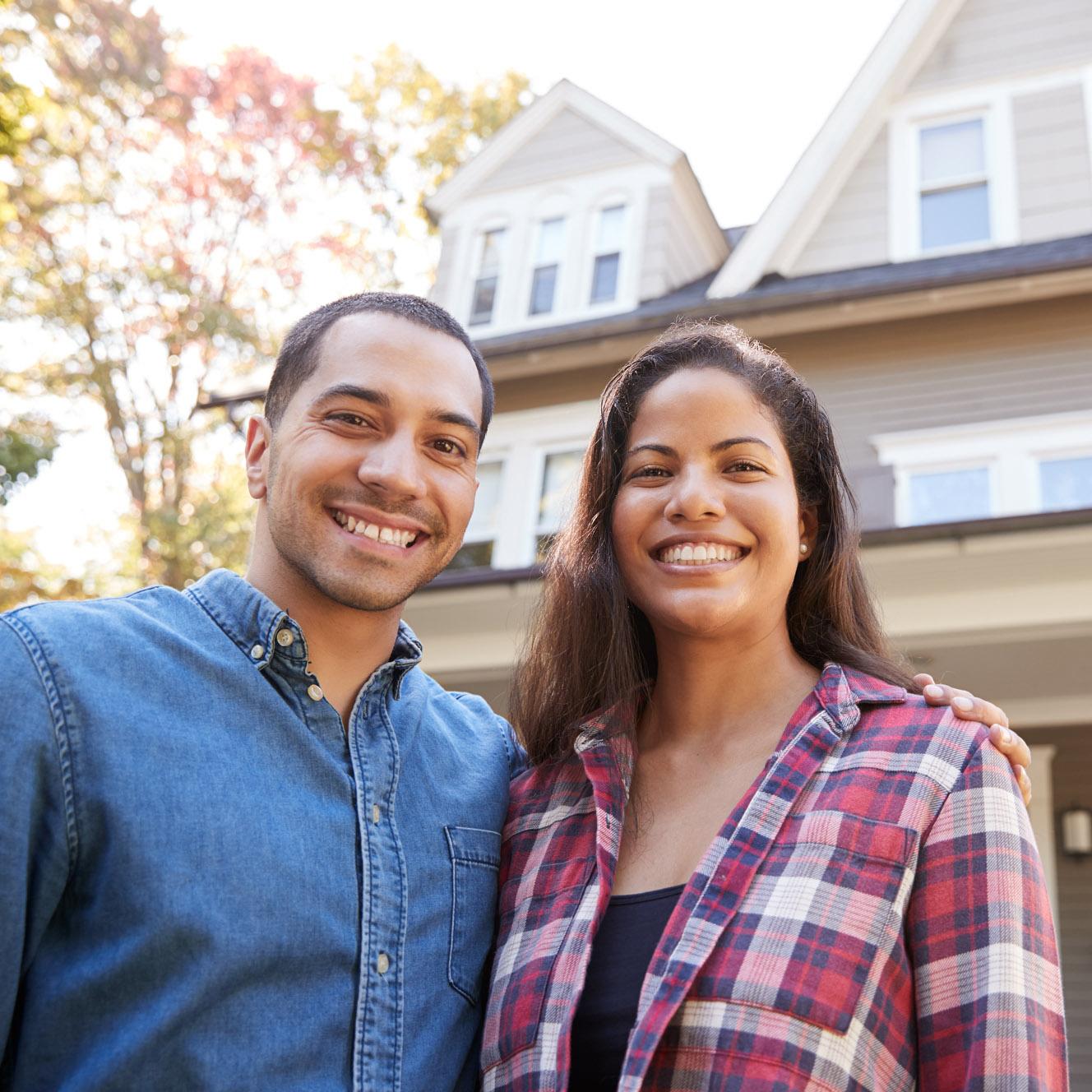Happy Couple New House